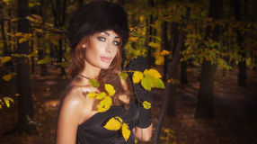 Elegant woman in autumn style. Royalty Free Stock Images