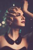 Elegant woman with beautiful hairdo Royalty Free Stock Photos
