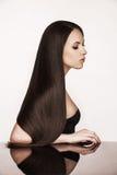 Elegant woman with beautiful natural hair Stock Photos
