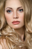 Elegant woman with beautiful skin stock photo