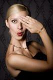 Elegant woman in black Royalty Free Stock Photos