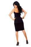 Elegant woman in black Royalty Free Stock Image
