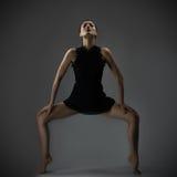 Elegant woman in black dress Royalty Free Stock Images