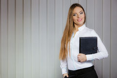 Elegant woman with briefcase Royalty Free Stock Photography