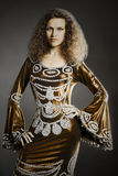 Elegant woman brunette fashion Stock Photography