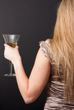 Elegant woman with Champagne Flute Stock Photo