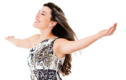 Elegant woman enjoying her freedom Stock Photography