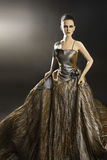 Elegant woman in evening dress Royalty Free Stock Images