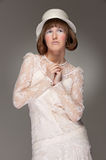 Elegant woman in hat Stock Photography