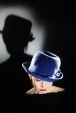 Elegant woman in hat beautiful portrait Stock Image