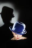 Elegant woman in hat beautiful portrait Stock Image