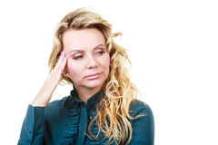 Elegant woman with headache Stock Image