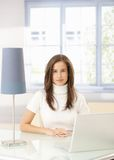 Elegant woman with laptop Stock Photography