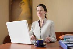 Elegant Woman with Laptop Stock Photo