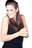 Elegant woman laughs with you Royalty Free Stock Photography