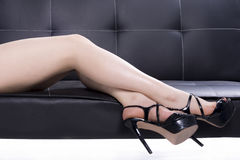 Elegant woman legs with shoes Stock Image