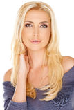 Elegant woman with long blond hair Royalty Free Stock Photo