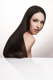 Elegant woman with long shiny hair Stock Photo