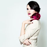 Elegant Woman with Makeup Royalty Free Stock Photos