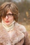 Elegant woman outdoor portrait Royalty Free Stock Photography
