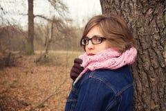 Elegant woman outdoor portrait Stock Photo