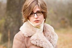 Elegant woman outdoor portrait Stock Photography