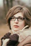 Elegant woman outdoor portrait Royalty Free Stock Photos