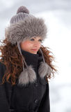 Elegant woman outdoor in winter Stock Photography
