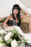 Elegant woman after a party Royalty Free Stock Photography