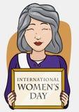 Elegant Woman of Politics Area Commemorating Women's Day, Vector Illustration Stock Image