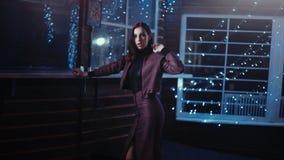 Elegant woman posing indoor
