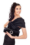 Elegant woman with purse Royalty Free Stock Image