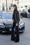 sara rossetto fashion week street style Stock Photo