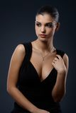 Elegant woman in seductive cocktail dress Stock Images