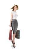 Elegant woman at shopping Royalty Free Stock Photos