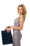 Elegant woman with shopping bag Stock Image