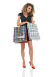 Elegant woman with shopping bags Stock Image