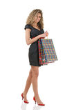 Elegant woman with shopping bags Stock Photos