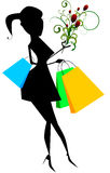 Elegant woman with shopping bags Royalty Free Stock Images