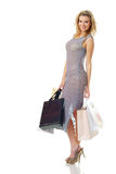 Elegant woman with shopping bags Royalty Free Stock Photo