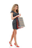 Elegant woman with shopping bags Stock Photo