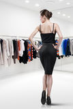 Elegant woman shopping in a store Royalty Free Stock Photo