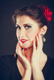 Elegant woman with strong make up. Royalty Free Stock Images