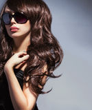 Elegant woman in sunglasses Stock Photos