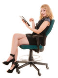 Elegant woman with tablet pc computer touchpad. Stock Photography