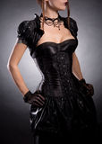Elegant woman in Victorian style costume Stock Photos