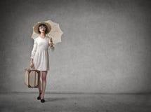 Elegant woman walking Royalty Free Stock Photo