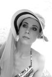 Elegant woman wearing heat Royalty Free Stock Images