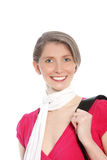 Elegant woman wearing a scarf Stock Images