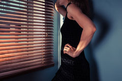 Elegant woman by window Stock Image